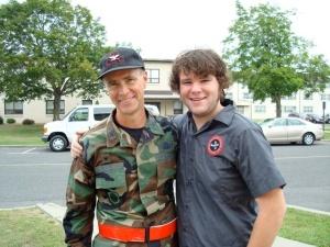 Cory Ellis and his father, U.S.A.F. Colonel Mark Ellis