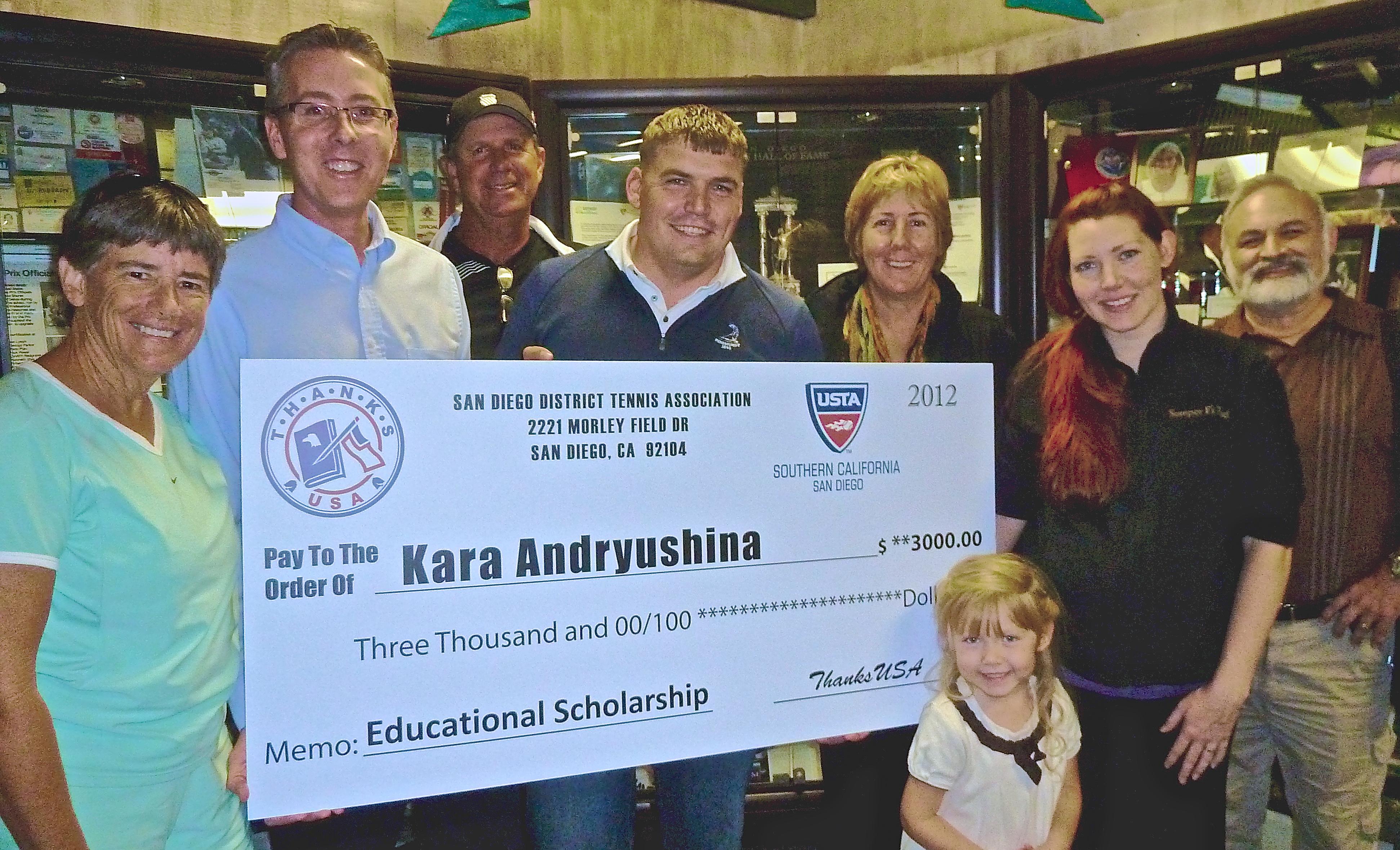 raise a racquet & support thanksusa scholars like kara andryushina, Powerpoint templates