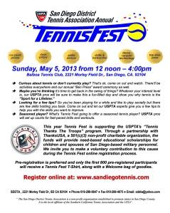 2013 Tennis Fest Flyer
