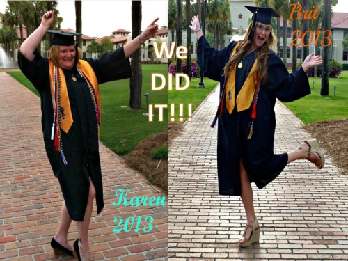 karen and brittany grad 2013