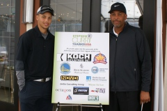 Stephen Curry and his father, Dell Curry, at the 2012 Stephen Curry ThanksUSA Golf Tournament