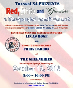 Concert Flyer for Red, White and Greenbrier 2013 v3
