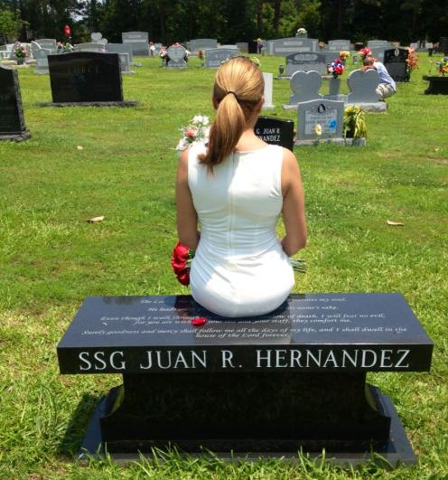 Laura at Juan's gravesight